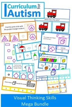Autism Visual Thinking Skills, Math, Reading, BUNDLE, Spec