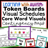 Autism Visual Supports - Token Boards, Visual Schedule, Core Vocabulary