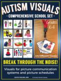 Autism Visuals - Comprehensive School Set - Visual Picture Cards