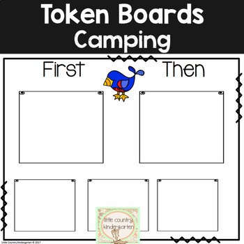 Autism Visuals: First Then Boards and I'm Working For Boards: Camping Theme