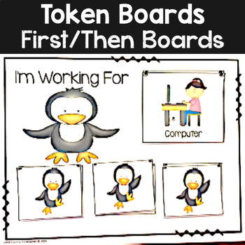 Autism Visuals: First Then Boards and I'm Working For Boards: Penguins Theme