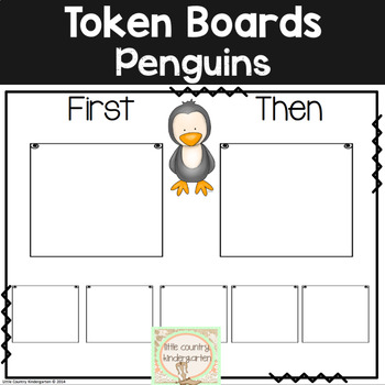 First Then Boards and I'm Working For Boards: Penguin Autism Visuals