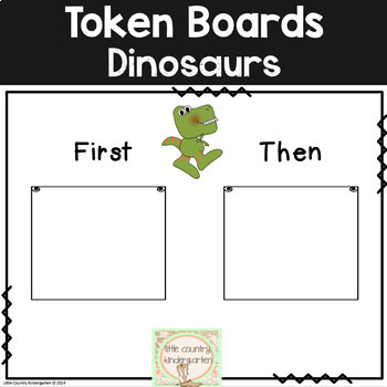 First Then Boards and I'm Working For Boards: Dinosaur Autism Visuals