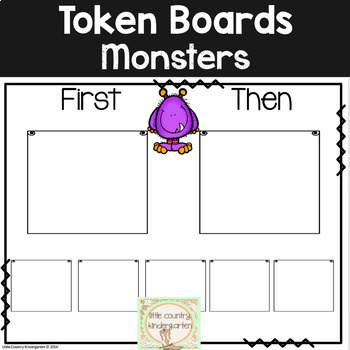 Autism Visuals: First Then Boards and I'm Working For Boards: Monsters Theme