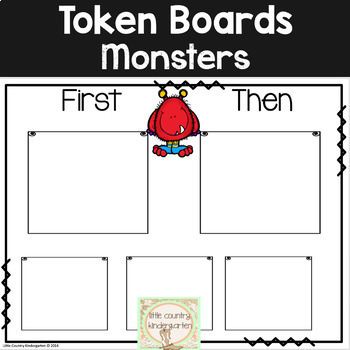 First Then Boards and I'm Working For Boards: Monster Autism Visuals