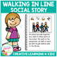 Social Story Walking in Line Book + Cards Autism