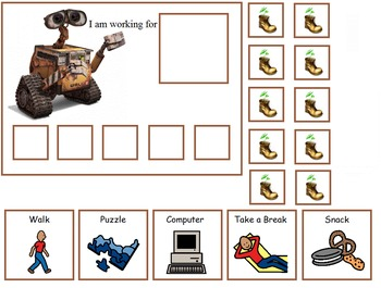 Autism:  Wall-E Token Boards