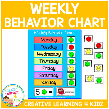 Weekly Behavior Chart Reward Visual
