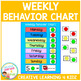 Weekly Behavior Chart Reward Visual