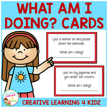 Inference What Am I Doing? Cards
