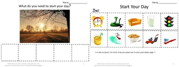 Life Skills What Do You Need? Cut and Paste Worksheets, Special Education