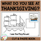 What Do You See at Thanksgiving? Cut & Paste Book