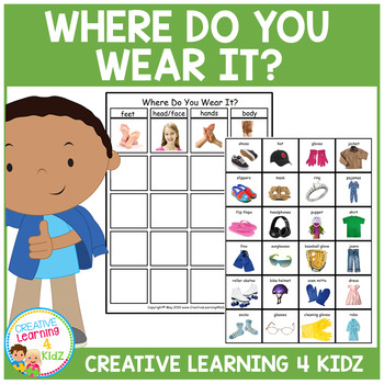 Where Do You Wear It? Sorting Board