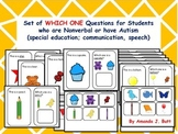 Autism - Which One Questions; Choices; Special Education: Communication