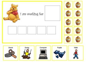 Autism:  Winnie the Pooh token board