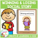 Social Story Winning & Losing Book + PECS Autism