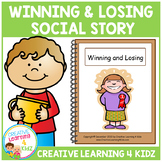 Social Story Winning & Losing Book + Cards Autism