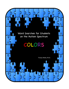 Autism Word Searches - COLORS