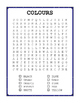 Autism Word Searches - COLOURS