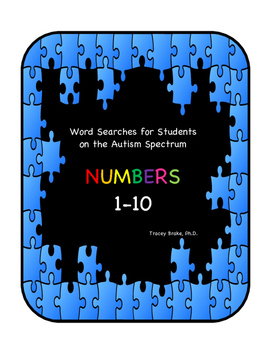 Autism Word Searches - Numbers 1 - 10