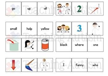 Sight Words Word to Picture Matching