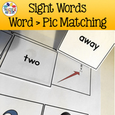 Sight Words - Word Picture Matching