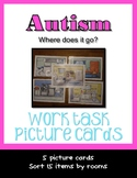 Autism Work Cards Add Items to Correct Room  Life Skills
