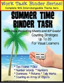 Autism Work Binder with Data: Counting to 20 SUMMER THEME Special Education