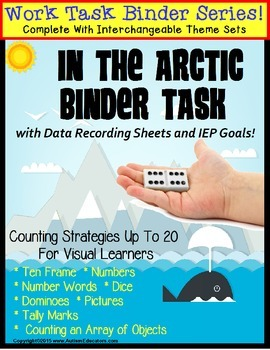 Autism Work Task Binder with Data:  Counting to 20 VALENTI
