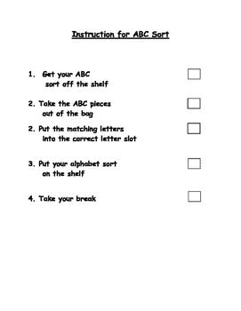 Autism Work Task Packet