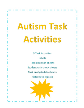 Autism Work Task Packet