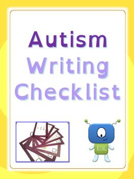 Autism: Writing Checklist (UPDATED)