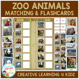 Zoo Animals Matching Board and Flashcards