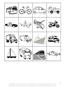 Autism Activities: Sorting animals vs transport