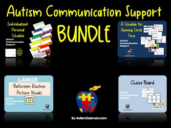 Autism and ID Communication Support Back to School Bundle
