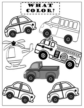 """Autism and Learning Disabilities ~Teaching """"Before"""" and """"After""""  Vehicle Theme"""
