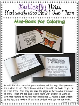 Autism and Special Education Science Butterfly Life Cycle Unit