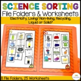 Autism and Special Education Science Sorting File Folders and Worksheets