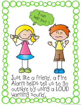 Autism and Special Education Social Story: Fire Alarms Are Our Friends