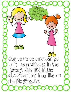 Autism and Special Education Social Story: I Can Use Voice Volume