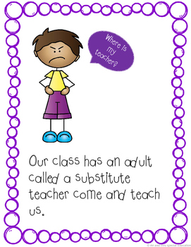 Autism and Special Education Social Story: Substitute Teachers Are Sweet