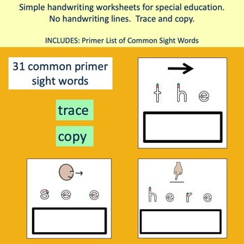Autism and Special Needs: Fall themed TRACE AND COPY words and sentences