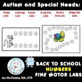 Autism and Special Needs:  Number Sequencing PUNCH DOTS -