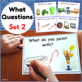 Distance Learning Speech Therapy What Questions Set 2