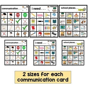 Autism and Speech Portable Communication Cards.
