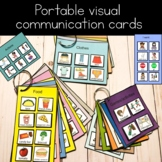 Portable visual communication cards for autism