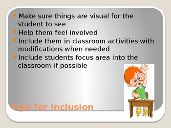 Autism in the classroom powerpoint
