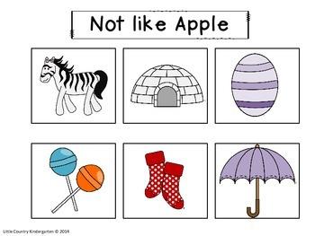 Autism or Kindergarten: Beginning Sounds Velcro Matching Alphabet Tasks: Colored