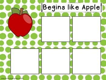 Autism or Kindergarten: Bundle of Beginning Sounds Velcro Match Alphabet Tasks