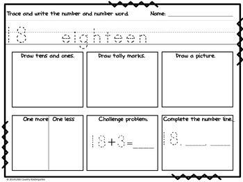 Autism or Kindergarten: Morning Work or Homework Month 1 of CCSS Math